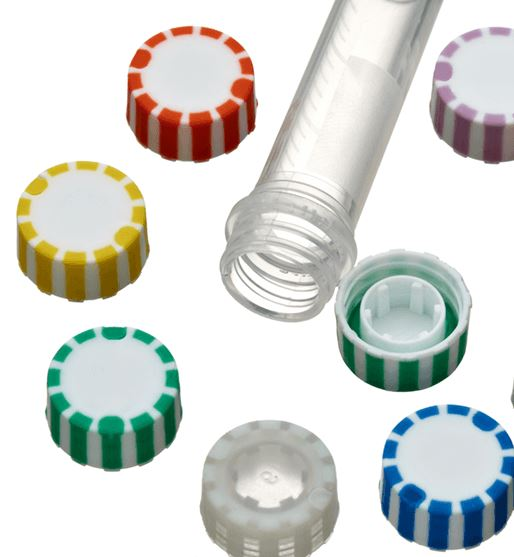SuperClear™ freestanding PP Screw Cap Micro Tubes 0.5ml, sterile