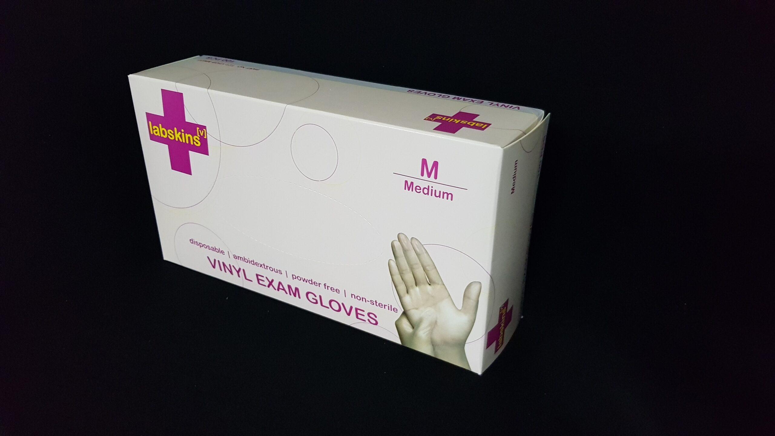 Labskins Disposable Vinyl Gloves