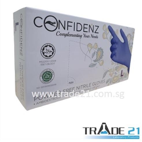 Confidenz Halal Nitrile Gloves (3mil)