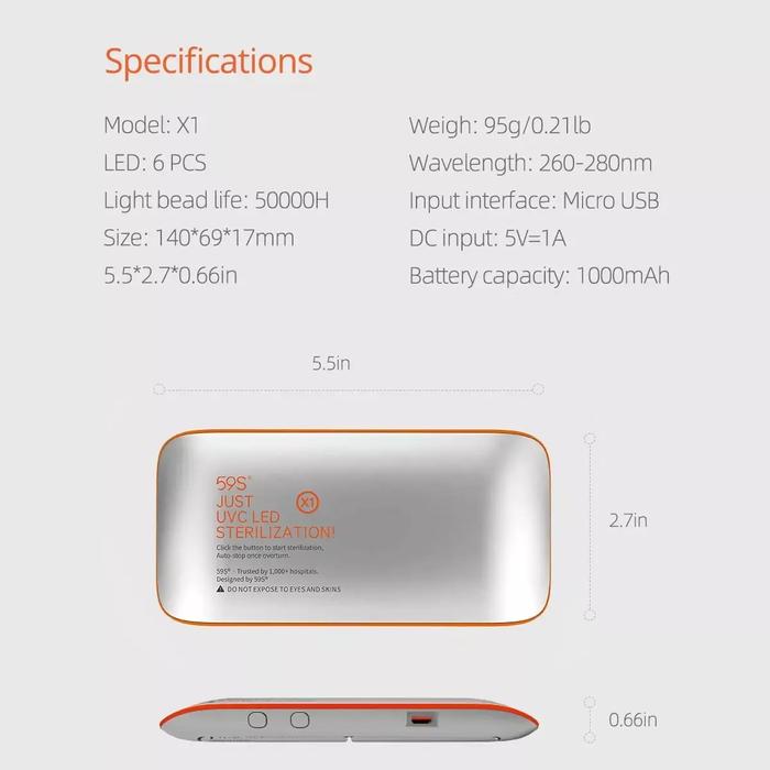 59s UVC LED Mini Sterilizer